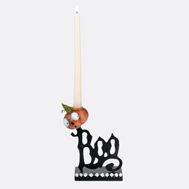 Boo Taper Candle Holder