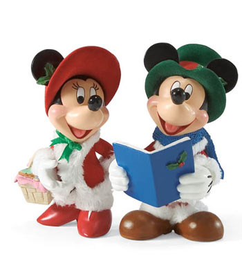 Mickey and Minnie Carolers