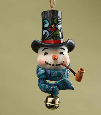 Snowman with Dangle Bell