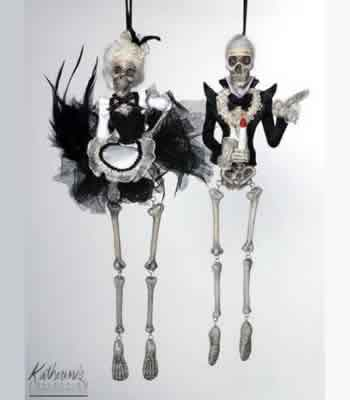 French Maid Skeleton Orn (left)