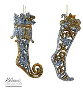 Gilded Jester Boot Ornament