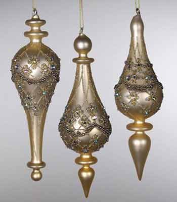 Gilded Glass Finial